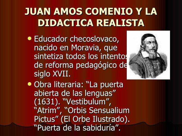 LA DIDÁCTICA DE JUAN AMÓS COMENIO