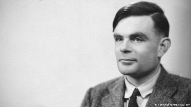 """Alan Turing presents the idea of a """"Turing machine"""" ."""