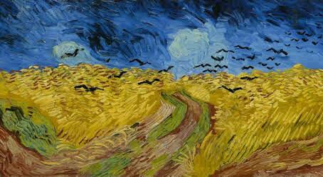 Campo di grano con volo di corvi- Van Gogh
