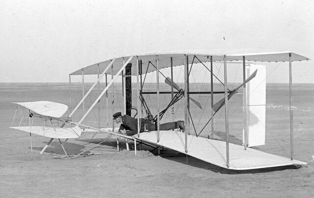 Primer vuelo, Flyer 1- Hermanos Wright