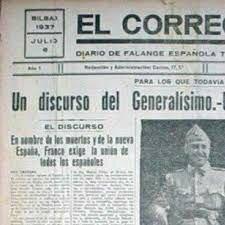 Franco promulga el día 19 el llamado Decreto de Unificación, por medio del cual crea una única formación política legal bajo su mando: FET y de las JONS.