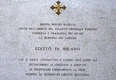 L'editto di Milano