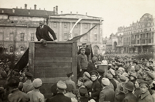 Lenin's return to from exile