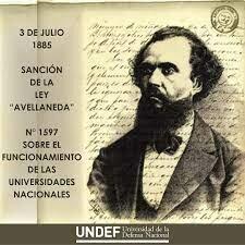 1885 - Ley Avellaneda.