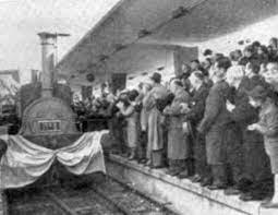 Inauguración del primer ferrocarril de la Argentina