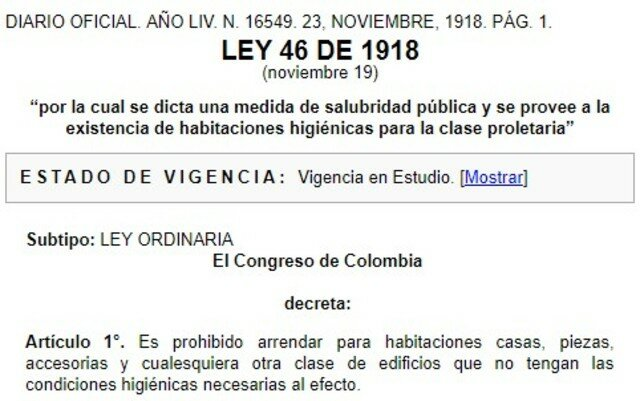 LEY 46 COLOMBIA