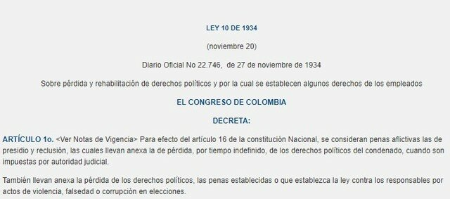 LEY 10 COLOMBIA