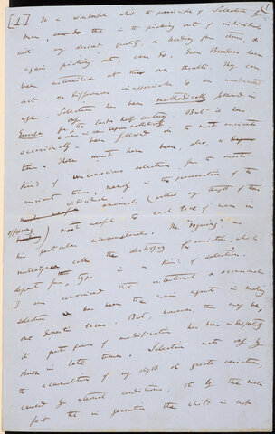 Darwin writes a Manuscript
