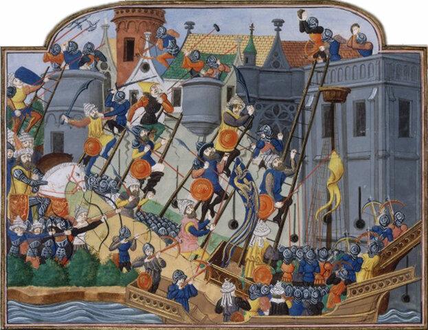 Costantinopoli viene assediata
