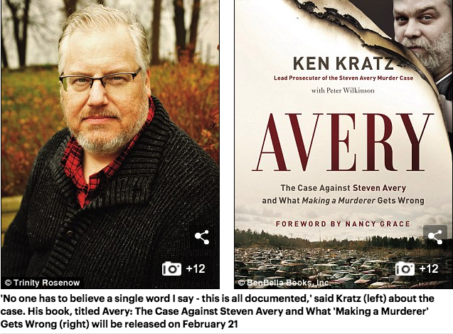 Ken Kratz interviews with dailymail.com regarding his book