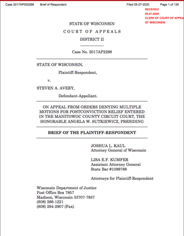 State files Reply Brief to Appeal from Circuit Court denial of post-conviction relief
