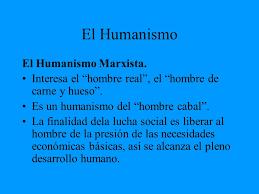 MARX Y EL HUMANISMO
