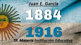 Principales sucesos políticos y educativos del período 1884-1916 timeline