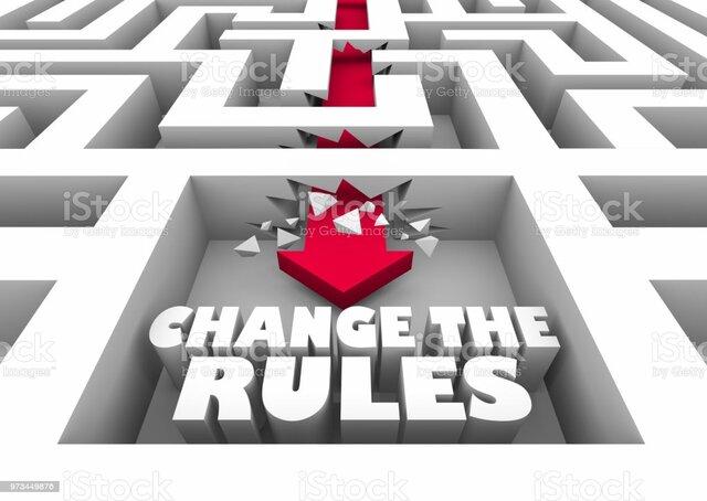 Cambio de reglas