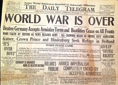 World War 1 Ends