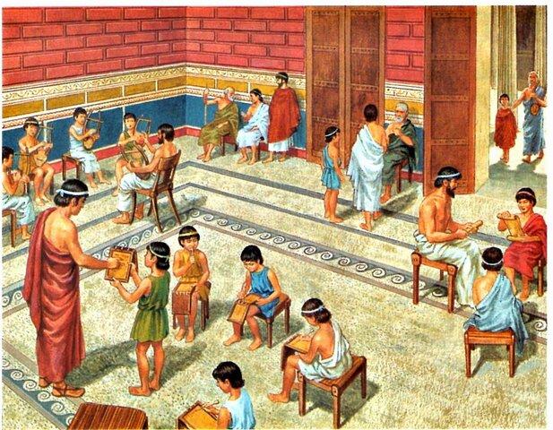 Educación bilingúe en Roma siglo II a.C.
