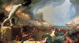 Acontecimientos de la caída del Imperio Romano. timeline