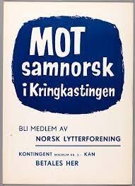 Stor motstand mot samnorsken 1950-tallet