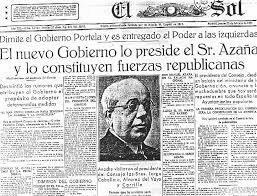 Dimisión del gobierno Azaña