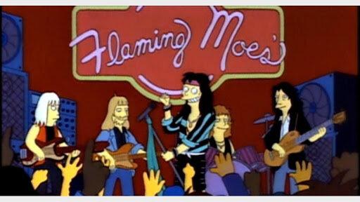 Apareixen als Simpsons en el episodi Flaming Moe's