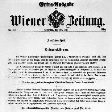 Declaració de la guerra a Àustria