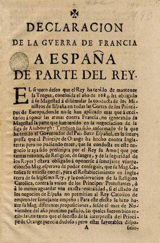 Declaració de guerra a España