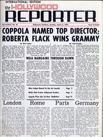 The Hollywood Reporter- 1930s, hollywood gets their own newspaper?