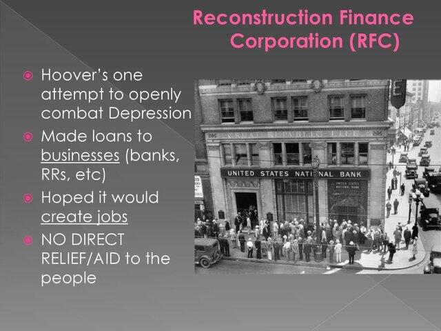 Reconstruction Finance Corporation (RFC)