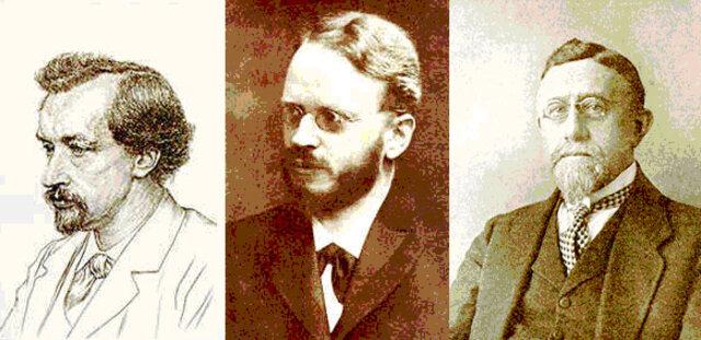 Correns, Tschermak y De Vries.