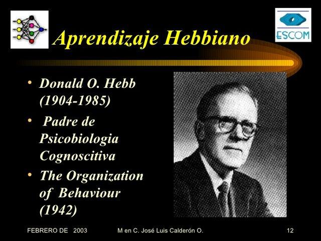 Donald Hebb, el primero en explicar los procesos del aprendizaje.