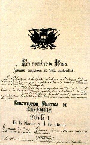 Siglo XVIII: Constitución de 1886