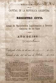 1888 - LEY DE MATRIMONIO CIVIL