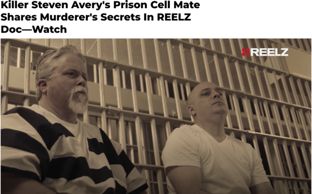 REELZ channel special on Ken Wernicke (prison cellmate of Steven Avery)