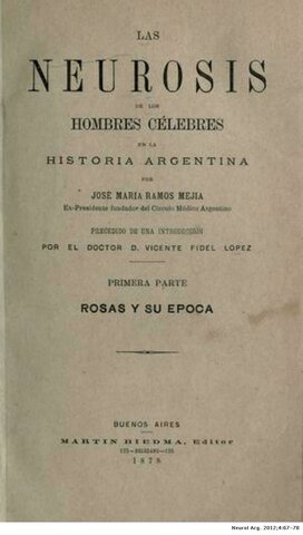 1899 - ESCUELA NEUROBIOLOGICA ARGENTINA GERMANA.
