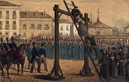 Se restauró el absolutismo, con Fernando VII y se persiguió ferozmente a todos los liberales.