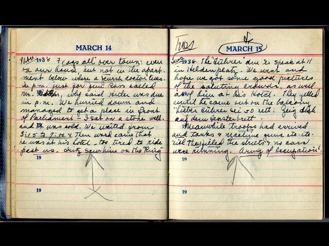 Helen Baker Diary Entry