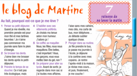 La journée de Martine timeline