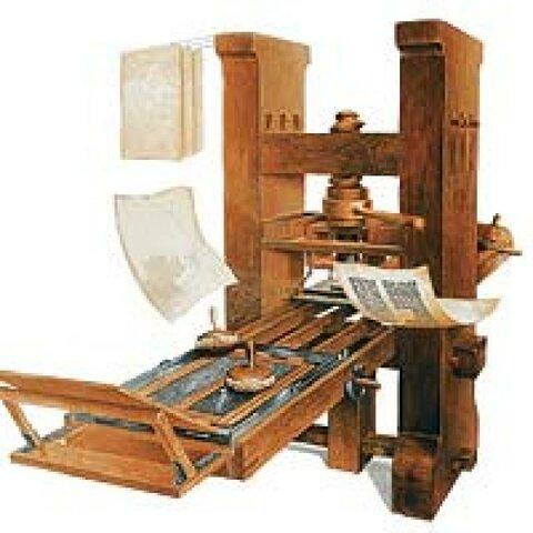 Invención de imprenta móvil