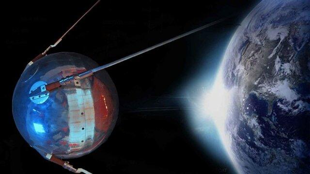 Lanzamiento del primer satélite artificial: el Sputnik.