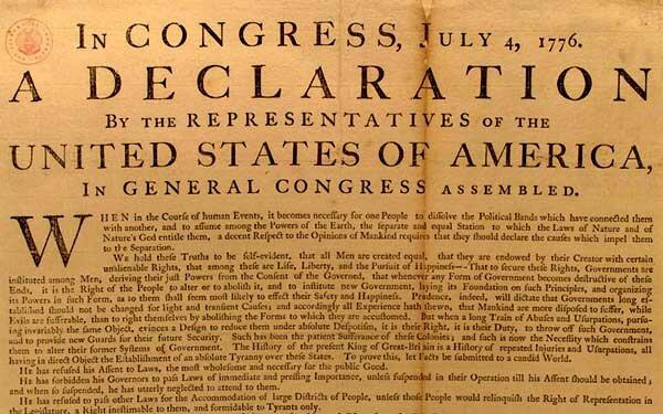 Declaración de Independencia de los E.U