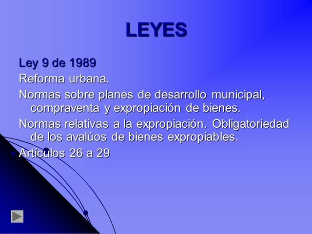 LEY DE REFORMA URBANA