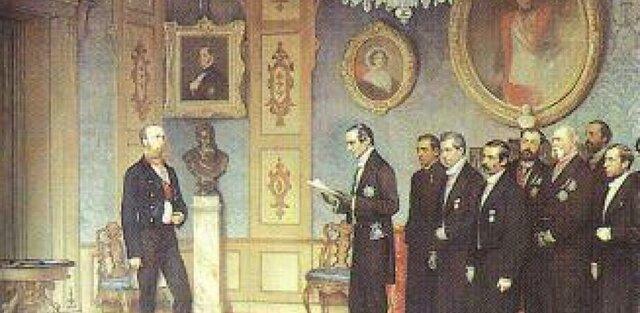 Maximiliano de Habsburgo aceptó la corona del nuevo imperio mexicano