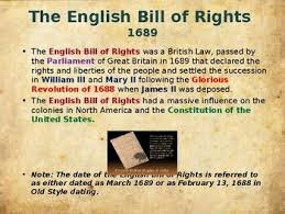 El bill of rights de 1688