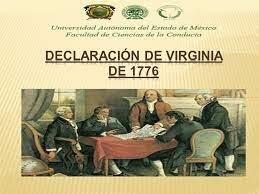La Declaración de Derechos de Virginia de 1776