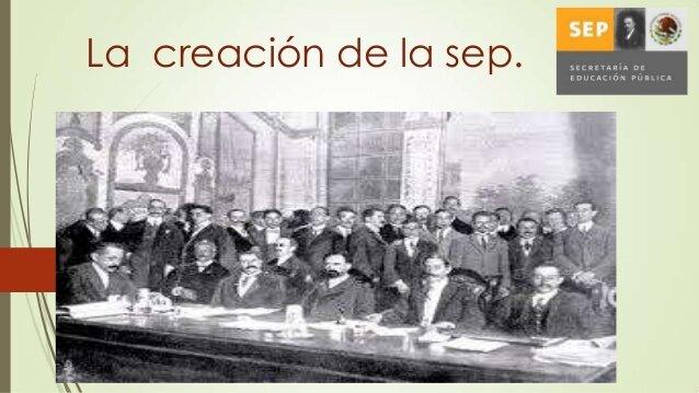 Creación de la Secretaria de Educación Pública