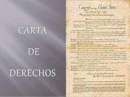 Firma de la carta de derechos en Inglaterra