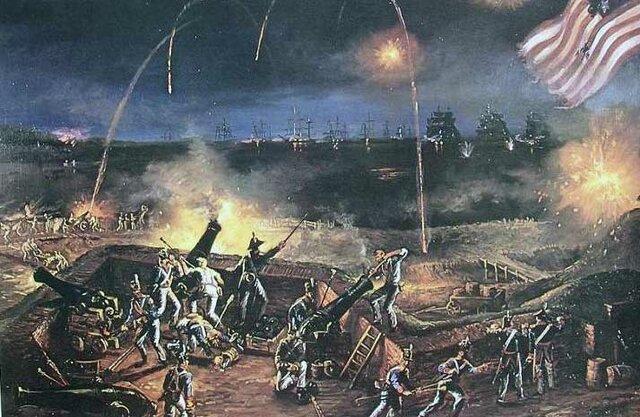 Batalla de Fort McHenry- Inspiro el himno nacional de EEUU