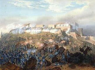 Caida del Castillo de Chapultepec- cese al fuego