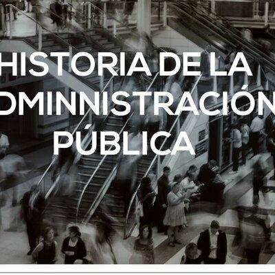 Contexto histórico de la Administración Pública y gestión de recursos timeline