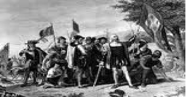 Llega de Colón a Guanahaní (San Salvador)
